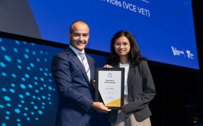 Justine Mogueis (class of 2018) receives Premier's VCE Award 2019