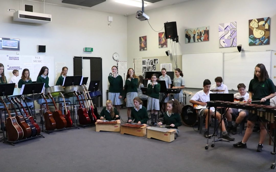 Making music with the Year 8 ELHES class
