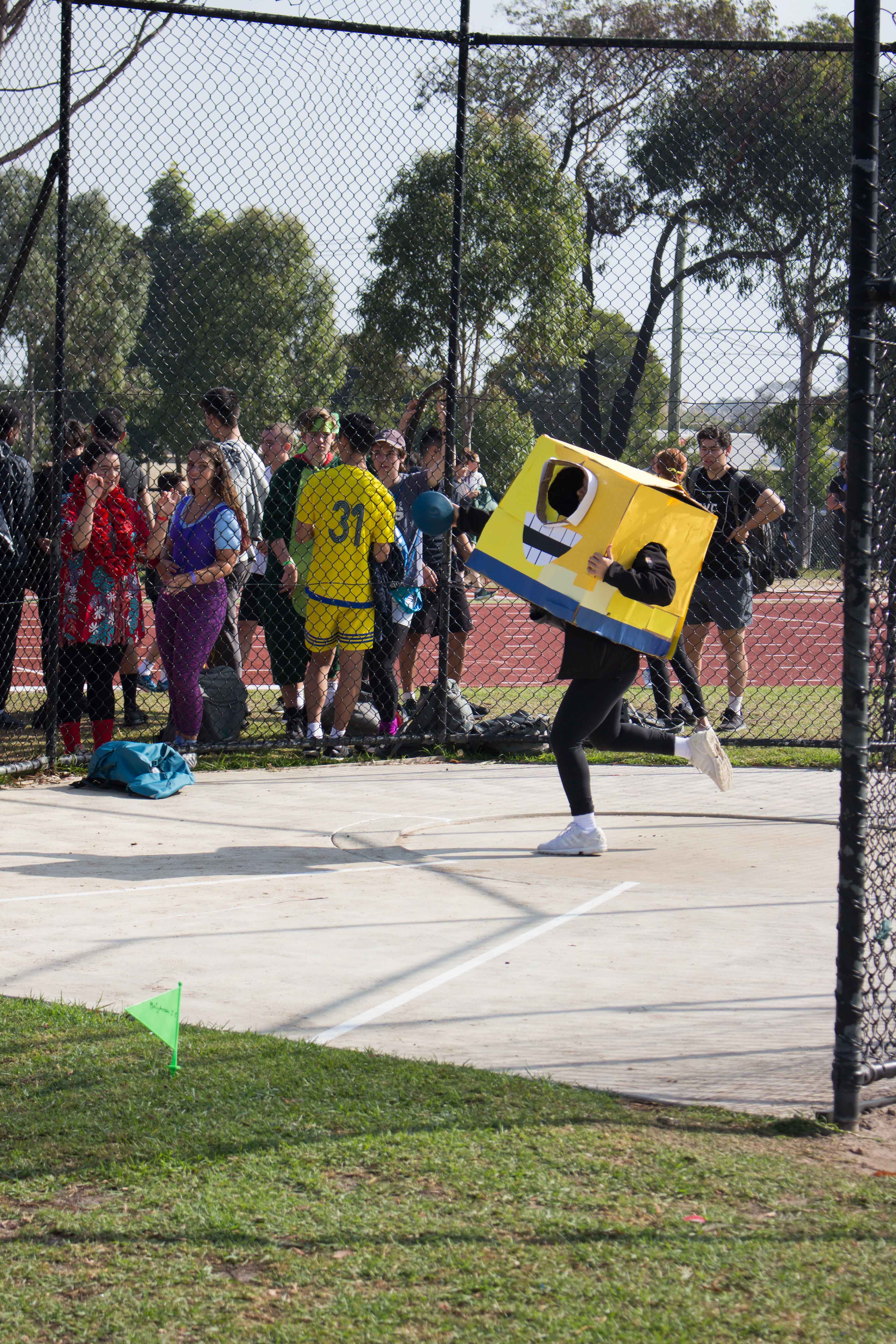 Just a minion throwing a discus...